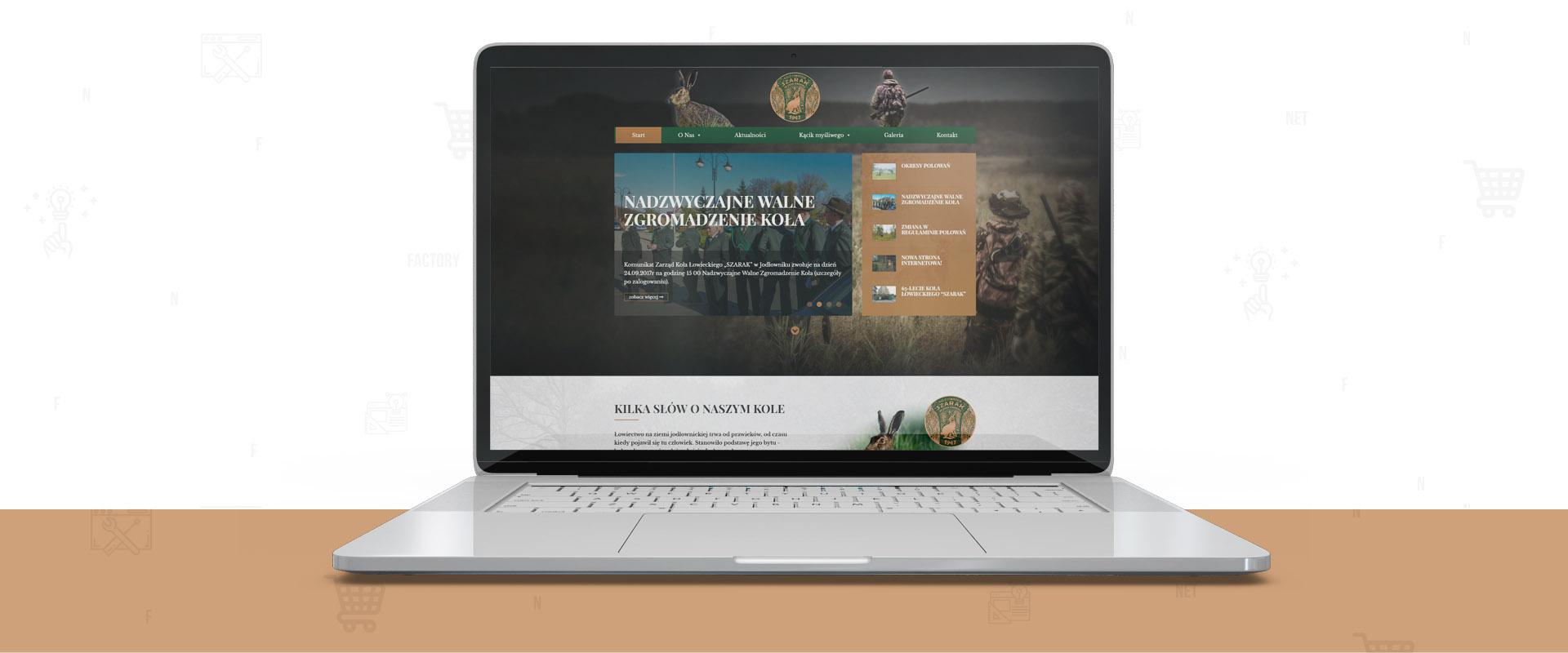 """Responsywna strona internetowa dla Koła Łowieckiego """"Szarak"""" w Jodłowniku"""