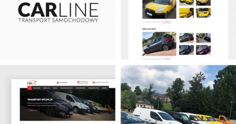 Strona firmowa dla firmy transportowej Carline