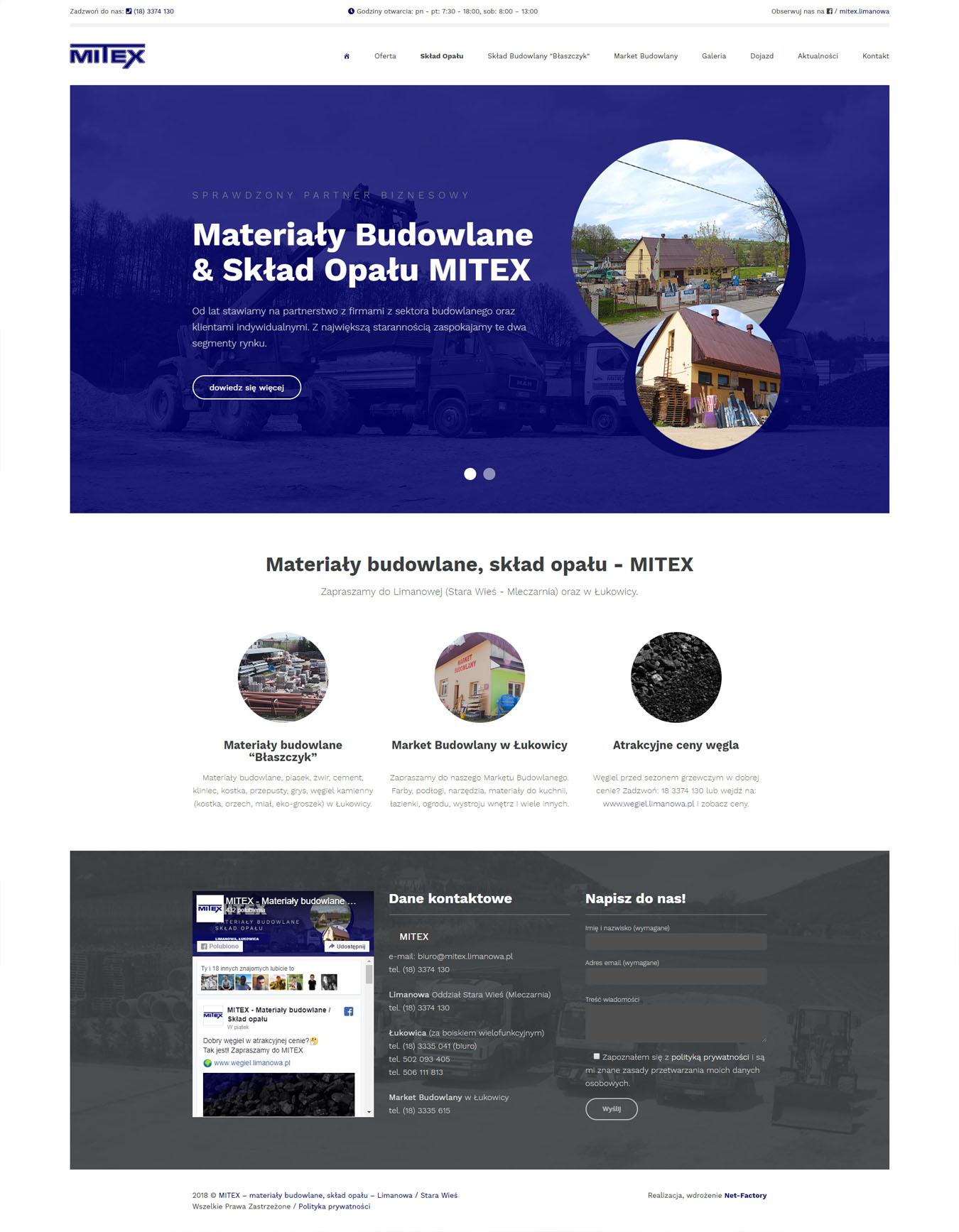 Witryna internetowa dla MITEX