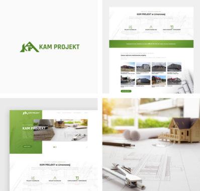 Odświeżenie firmowej strony internetowej dla Biura Projektowego KAM PROJEKT z Limanowej