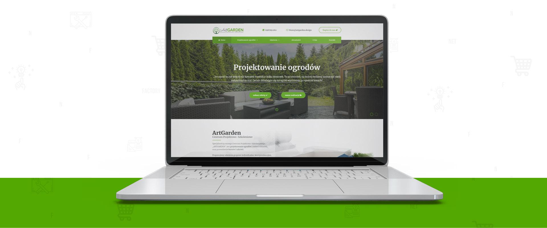 Responsywna strona dla ArtGarden – Centrum Projektowo-Szkoleniowego