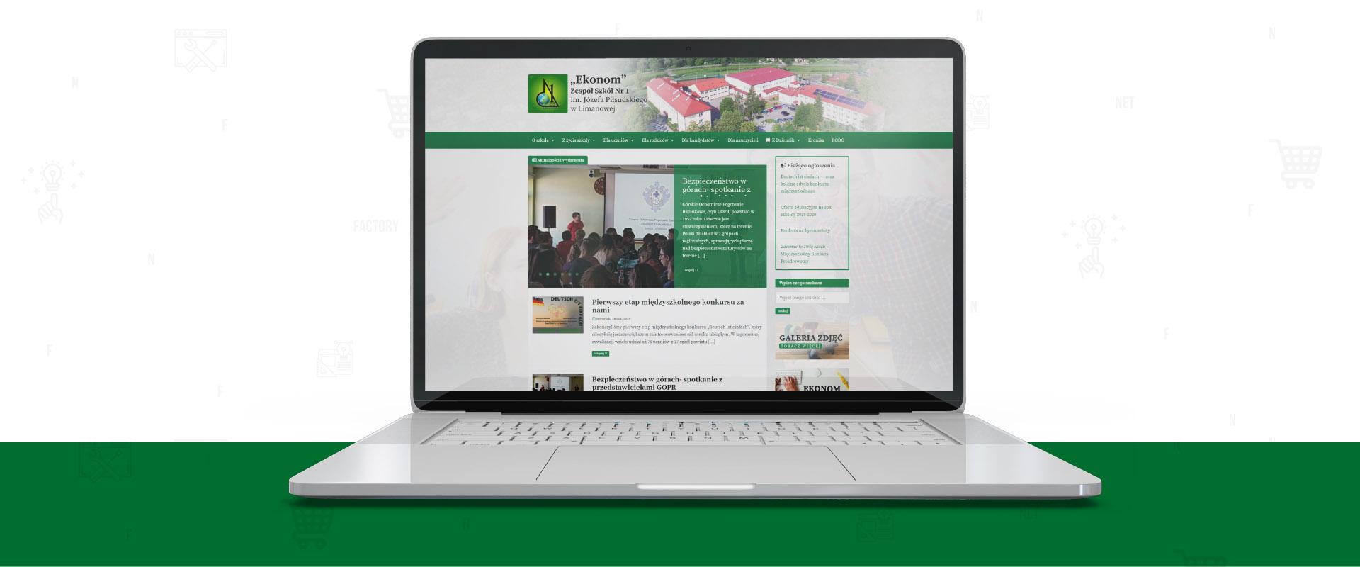 Kompleksowa przebudowa strony internetowej Zespołu Szkół nr 1 w Limanowej