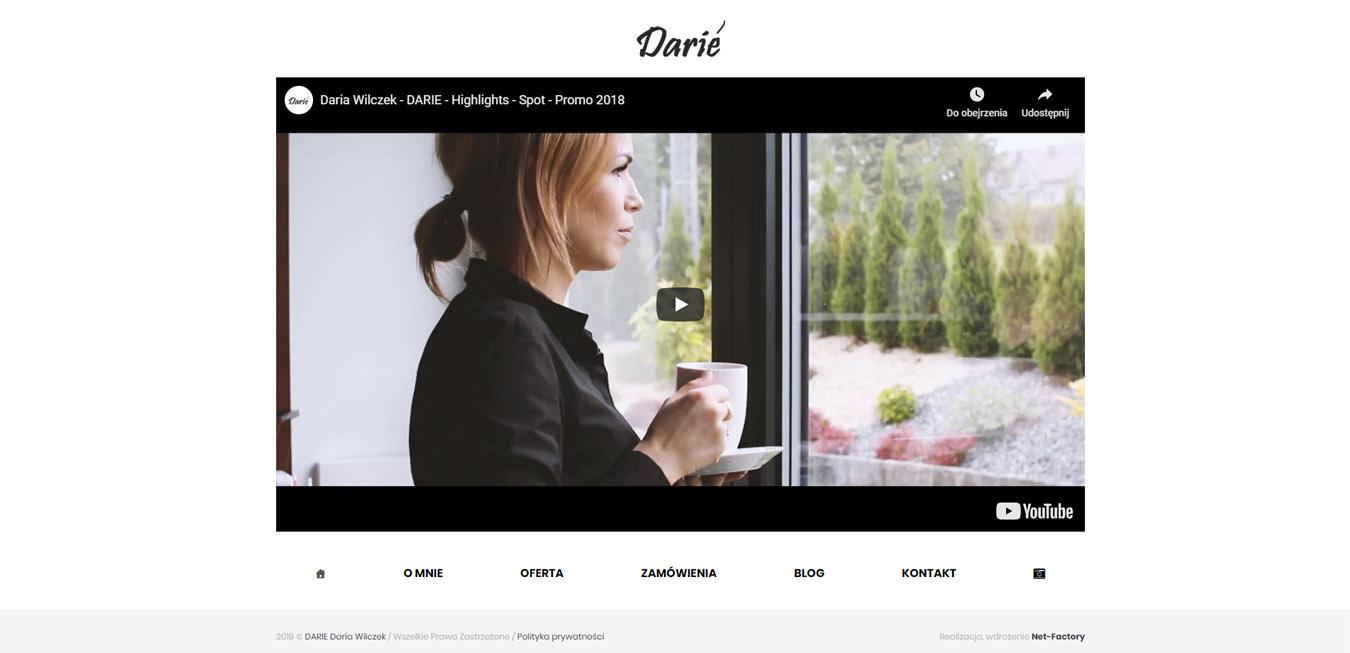 Strona internetowa dla Daria Wilczek, Dariè