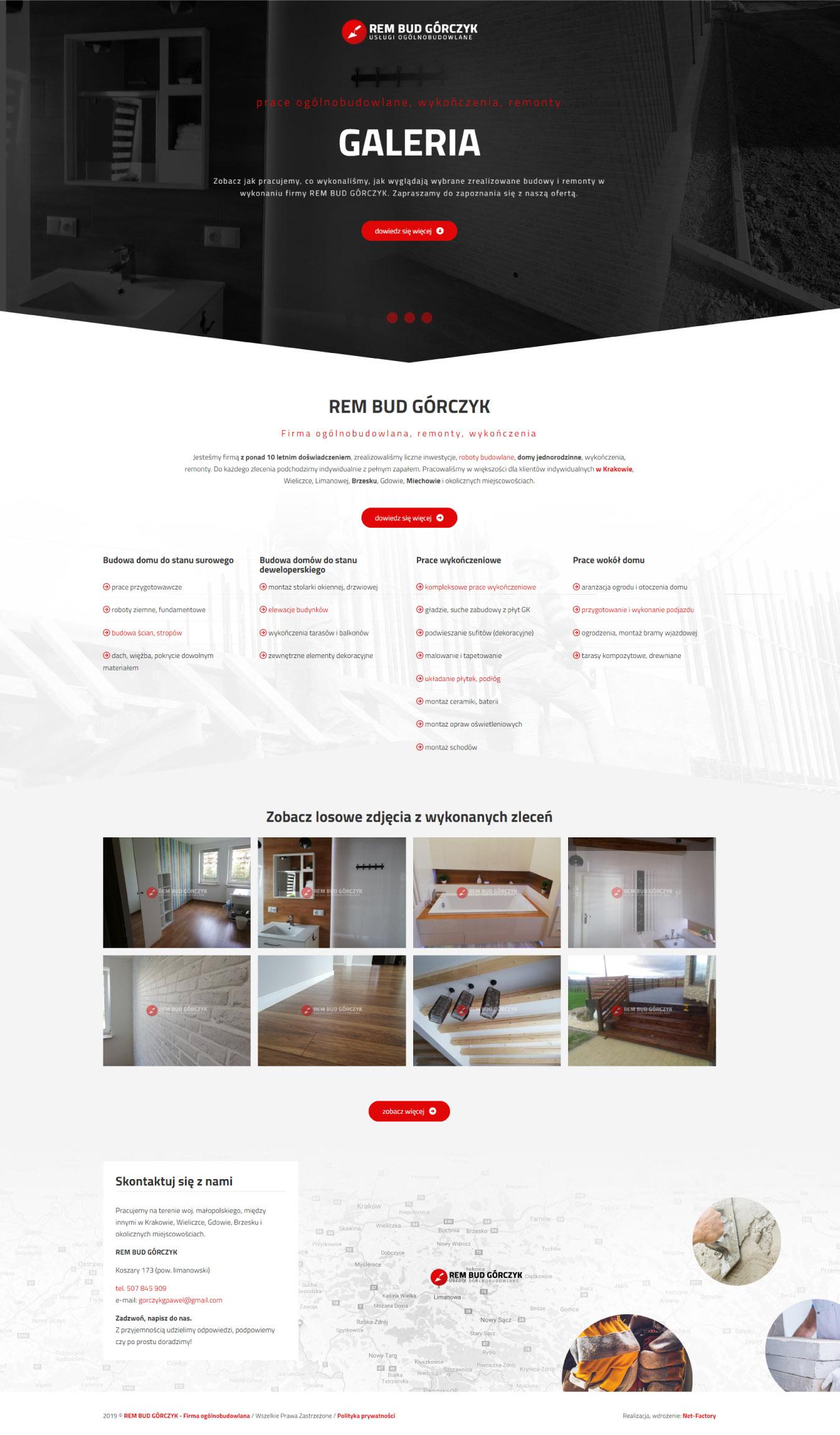 Responsywna prosta strona internetowa dla Rem Bud Górczyk