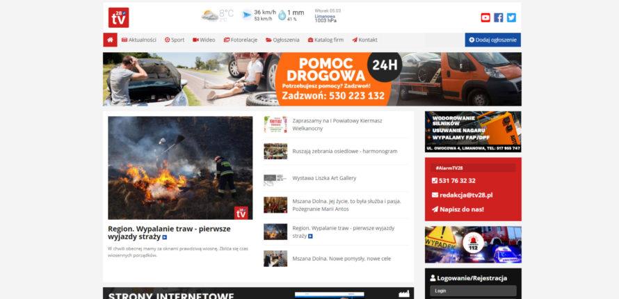 Limanowska Telewizja TV28.pl w nowej odsłonie