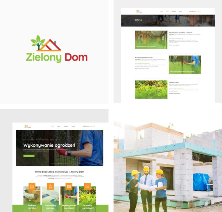 Strona internetowa dla firmy budowlanej Zielony Dom