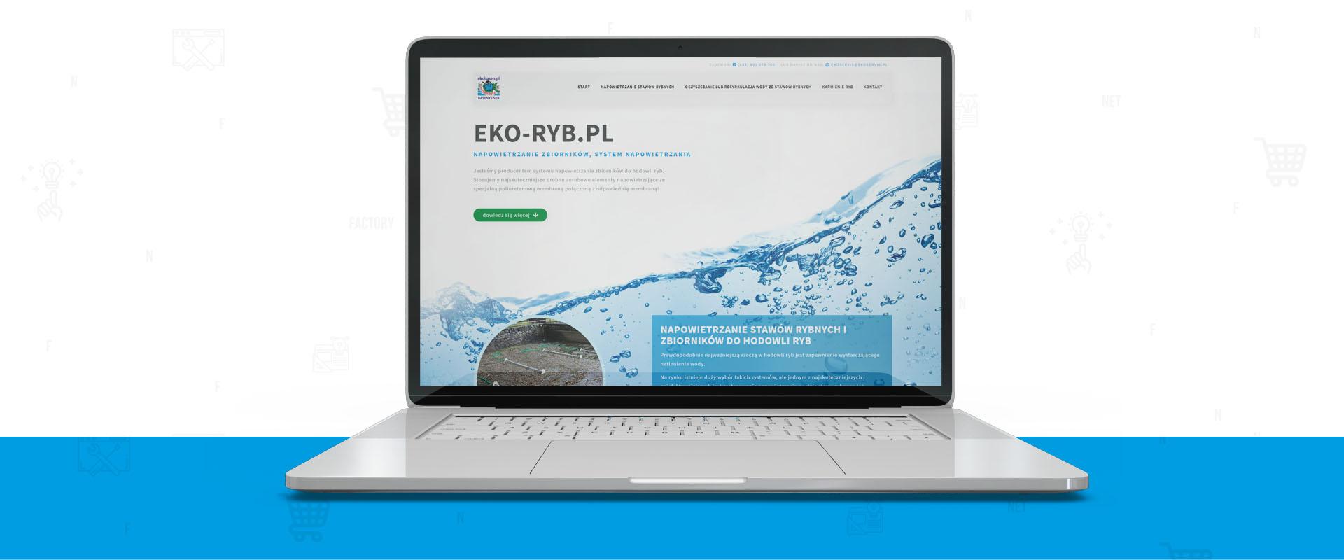 """Eko-Ryb.pl – strona internetowa w stylu """"one-page"""""""