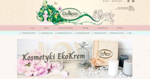 Wdrożenie sklepu internetowego dla marki EkoKrem