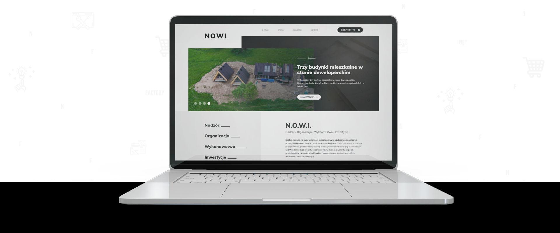 Responsywna strona internetowa dla N.O.W.I. Sp. z o.o. Sp. k.