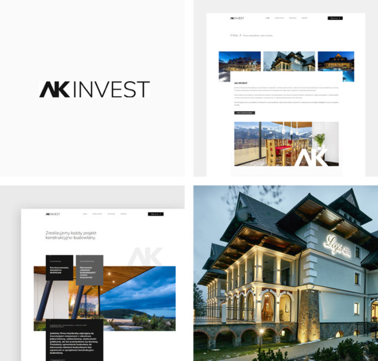 Odświeżona strona internetowa dla AK INVEST