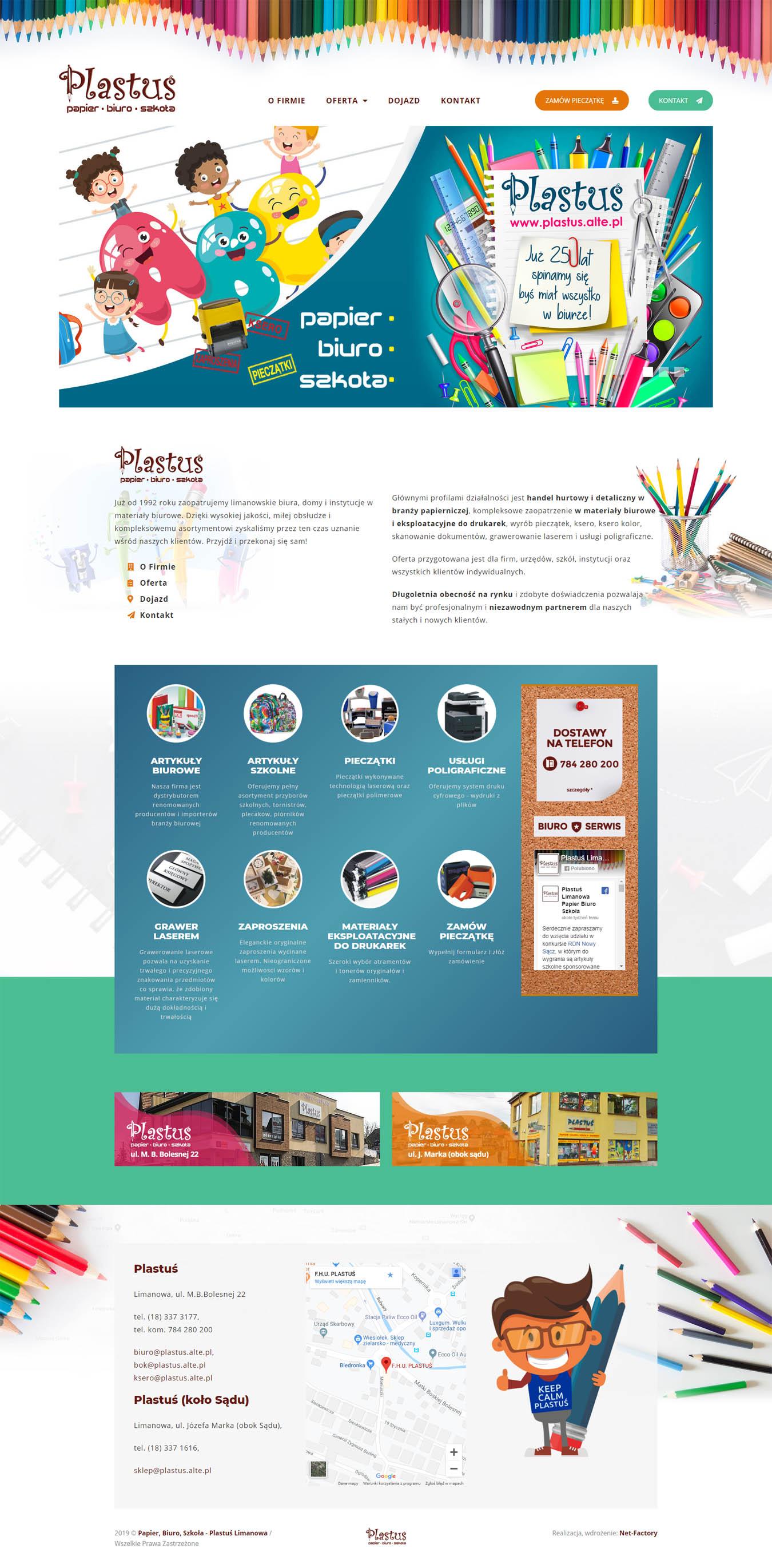 Odświeżona strona internetowa dla firmy Plastuś