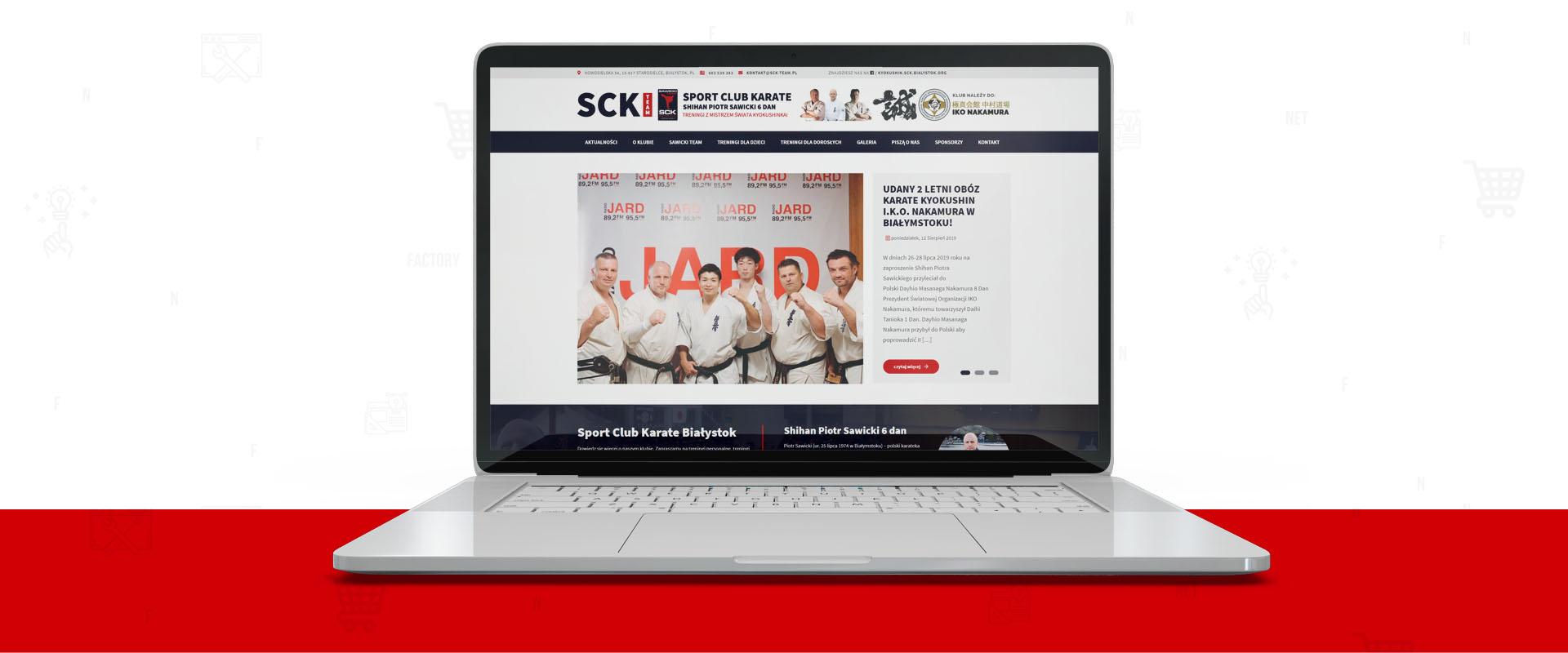 Serwis klubowy dla Sport Club Karate Białystok