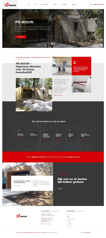 Wielojęzyczna strona internetowa dla firmy PR-BOUW