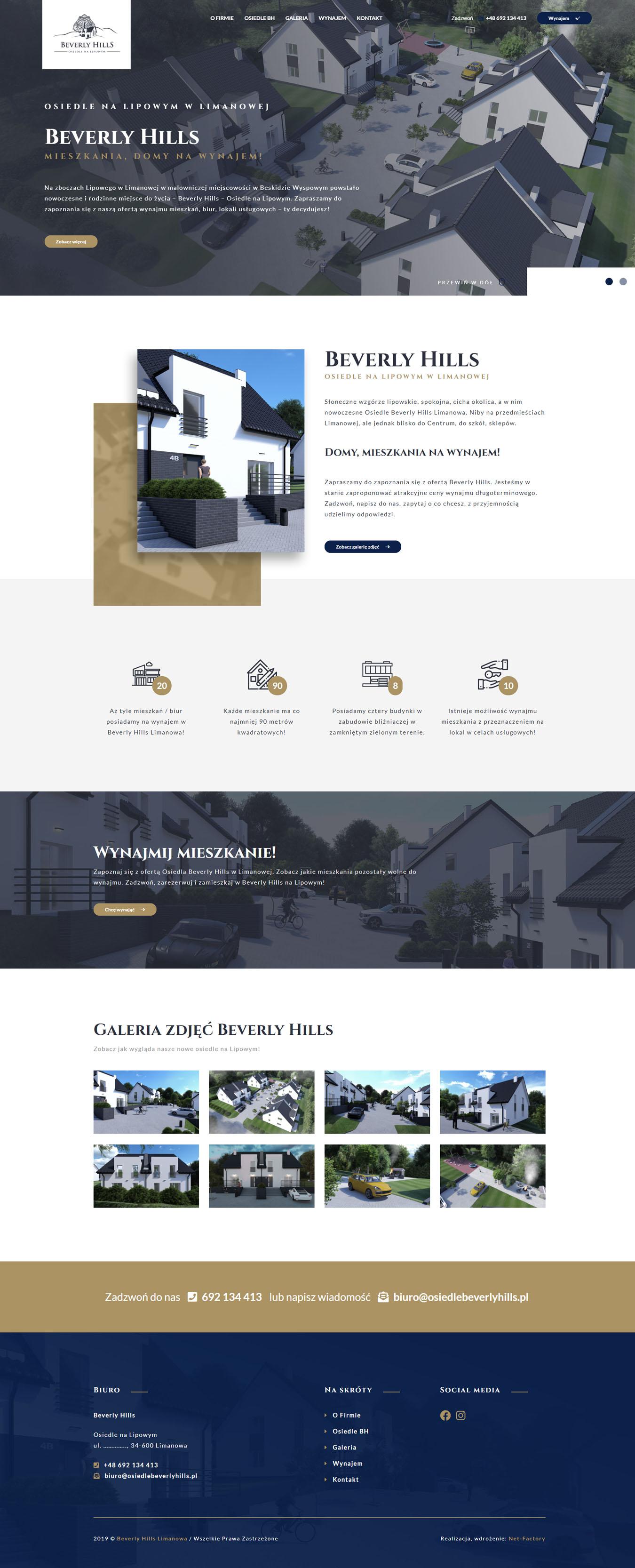 """Responsywna strona dla nowego Osiedla na Lipowym """"Beverly Hills"""""""