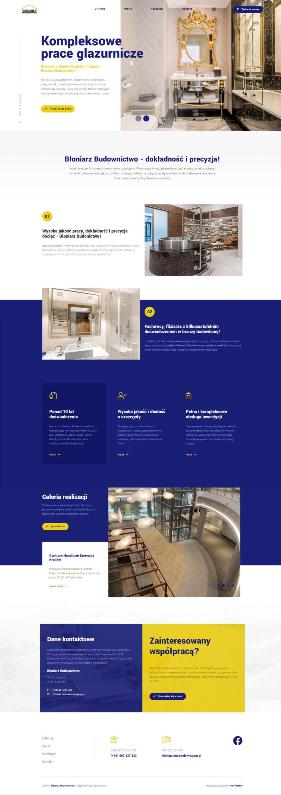 Witryna internetowa dla Błoniarz Budownictwo