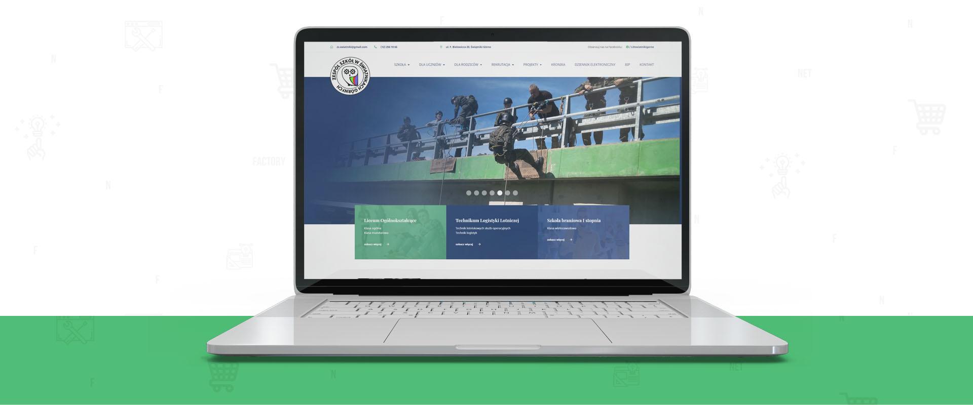 Strona internetowa dla Zespołu Szkół w Świątnikach Górnych