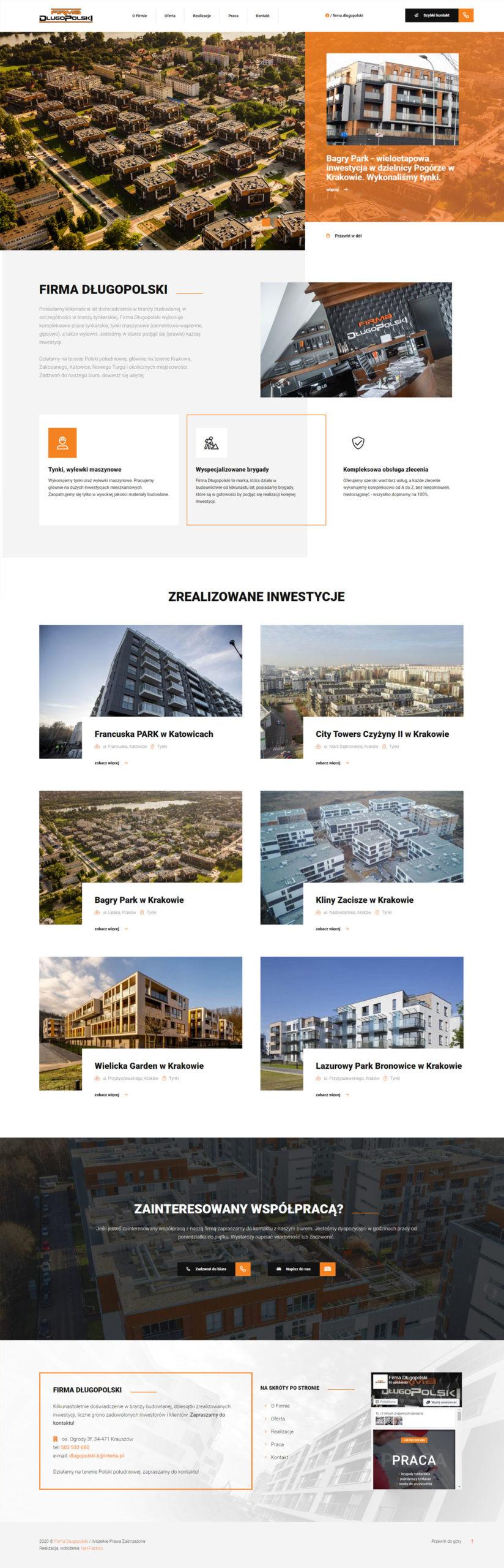 Responsywna witryna internetowa dla Firmy Długopolski