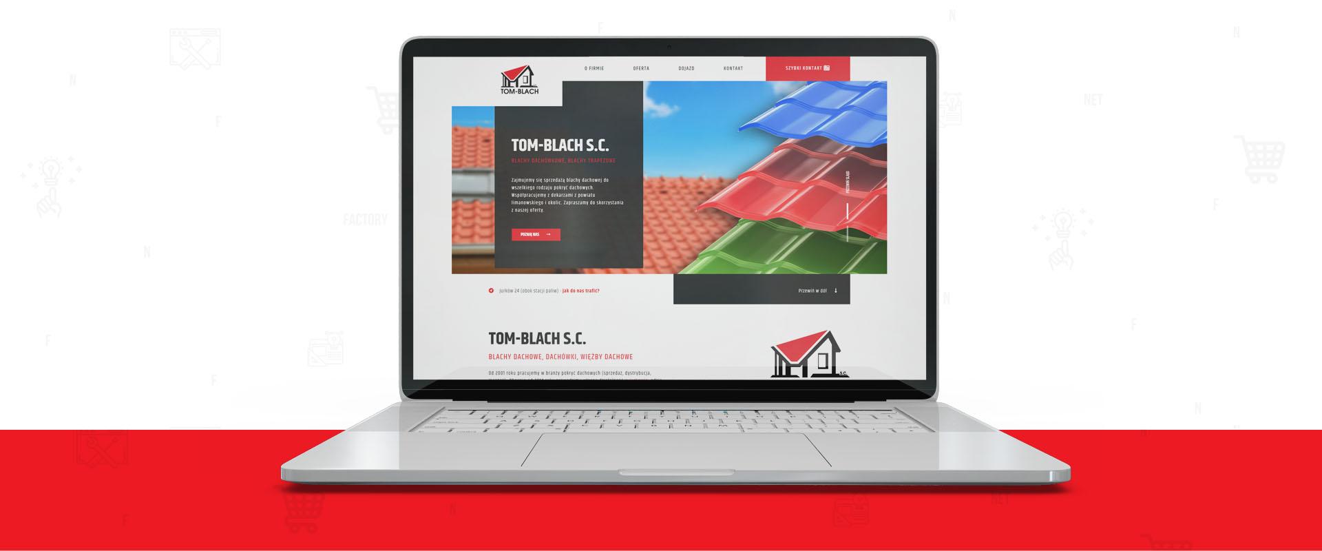 Responsywna strona internetowa dla firmy TOM-BLACH