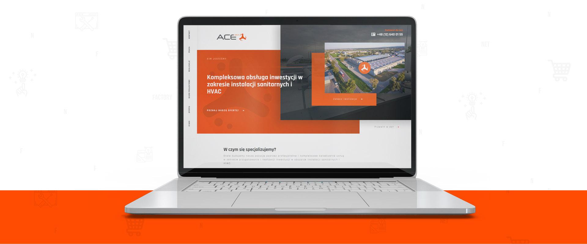 Odświeżenie strony internetowej dla ACE Group z Krakowa