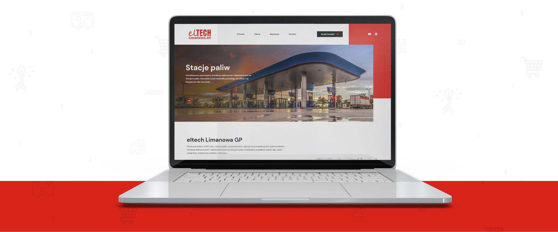 Responsywna witryna internetowa dla eltech Limanowa GP