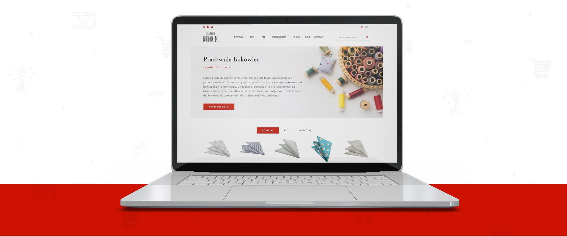 Sklep internetowy dla Pracowni Bukowiec