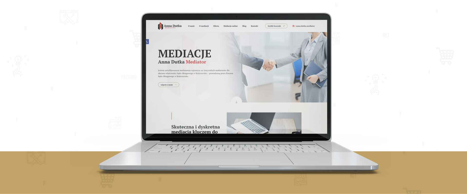 Strona internetowa dla Mediatora Anny Dutka