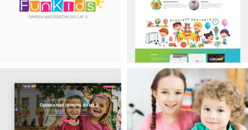 Strona internetowa dla żłobka Fun Kids oraz Klub Malucha