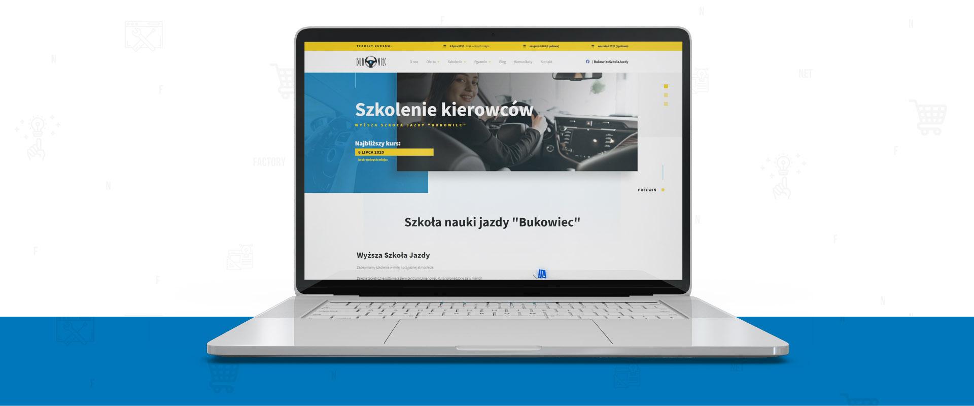 """Strona www dla Wyższej Szkoły Jazdy """"Bukowiec"""" z Limanowej"""