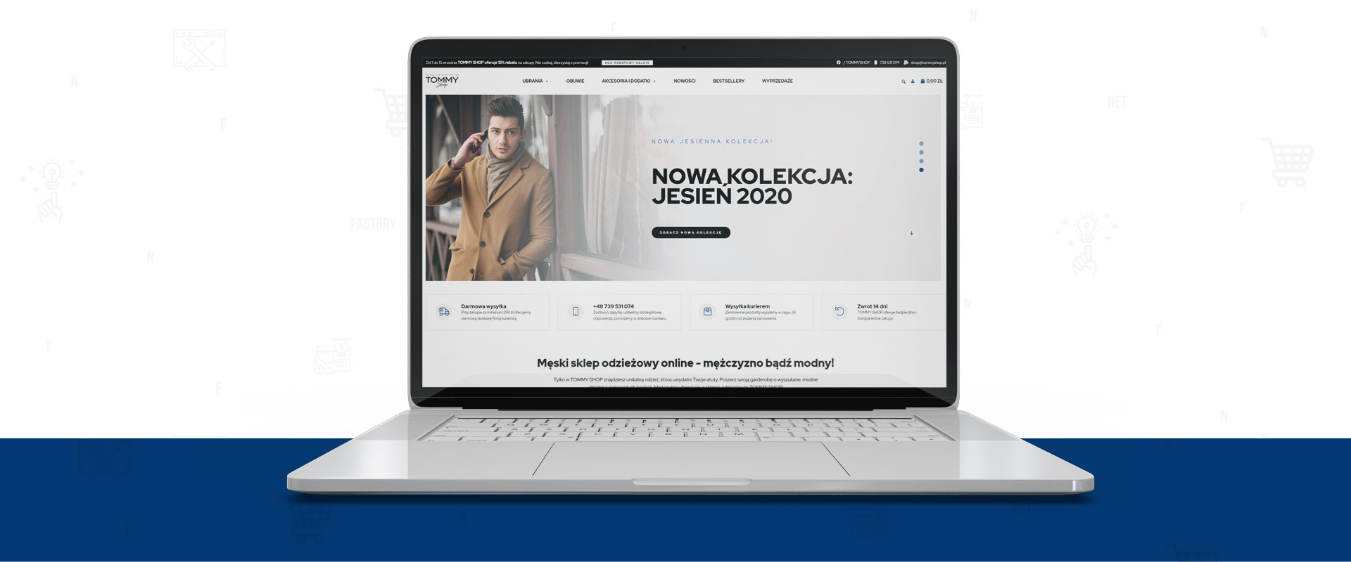 Internetowy sklep odzieżowy TOMMY SHOP