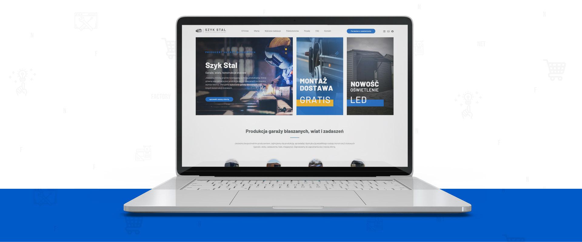 Responsywna strona internetowa dla firmy Szyk Stal