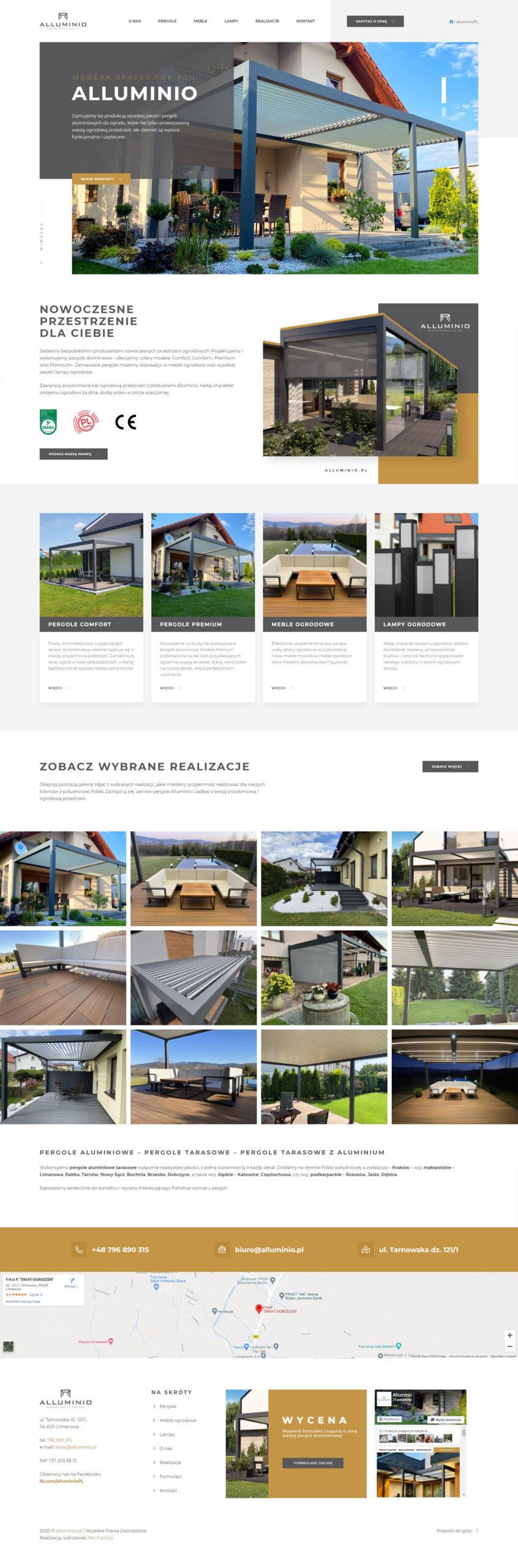 Witryna internetowa dla marki Alluminio.pl
