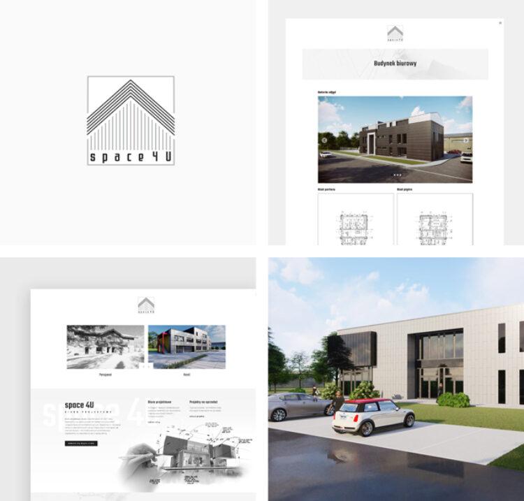 Strona internetowa dla biura projektowego Space 4u
