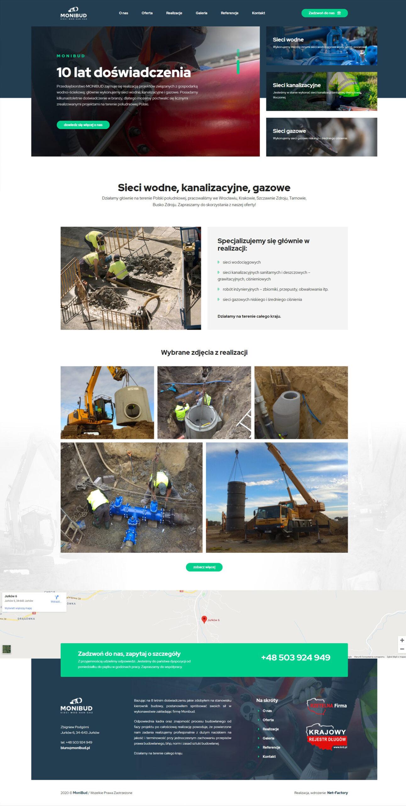 Strona internetowa dla MONIBUD