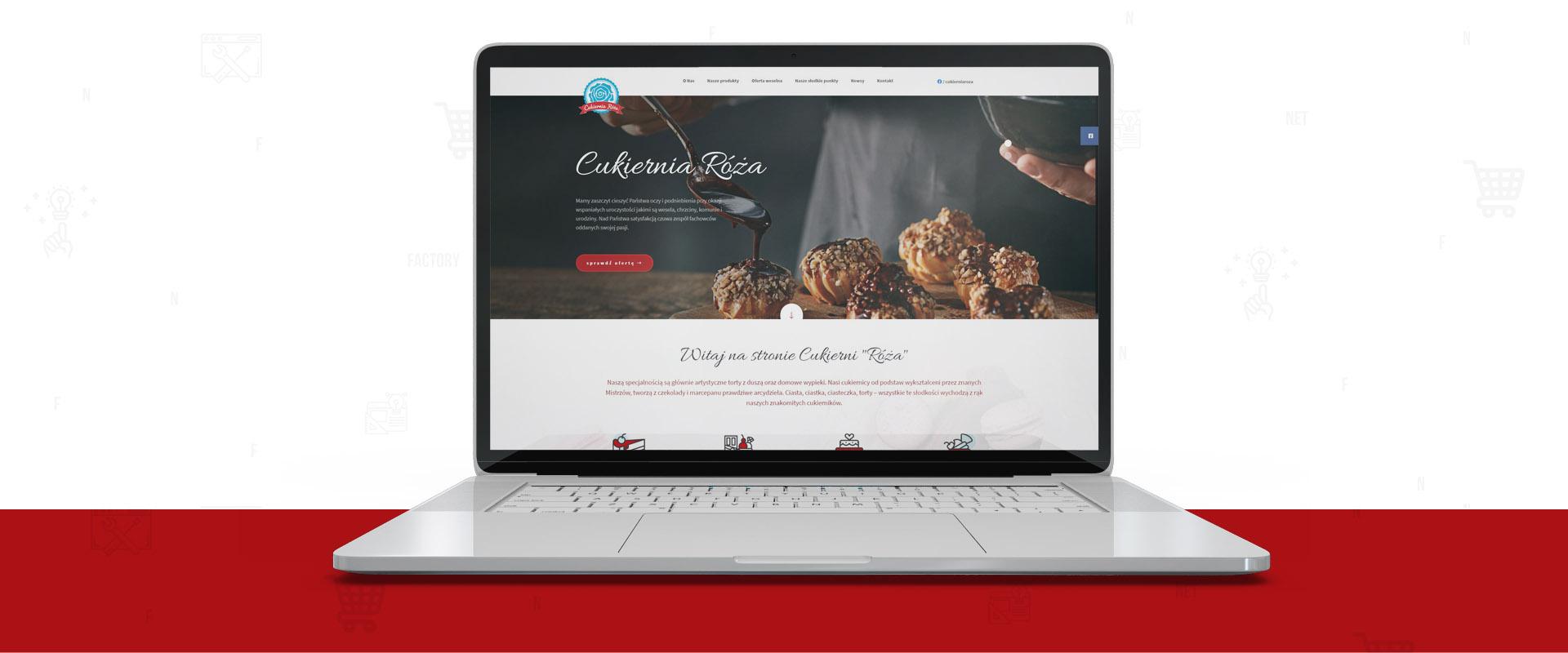 Cukiernia Róża z nową stroną internetową