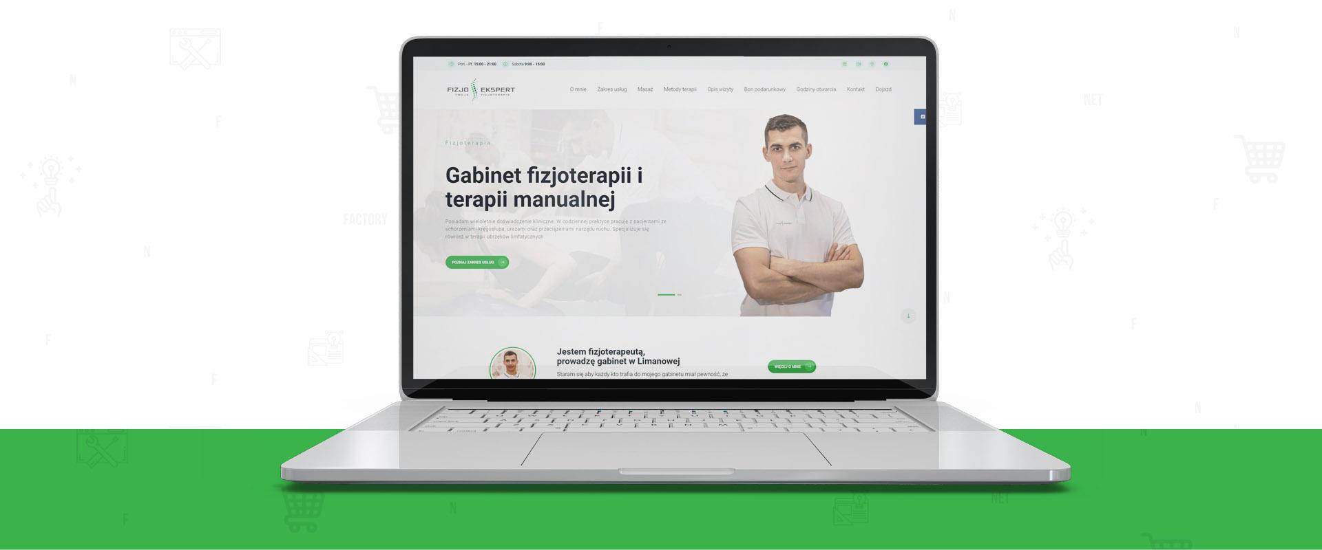 Strona www dla Gabinetu Fizjoterapii i Terapii Manualnej Fizjo-Ekspert